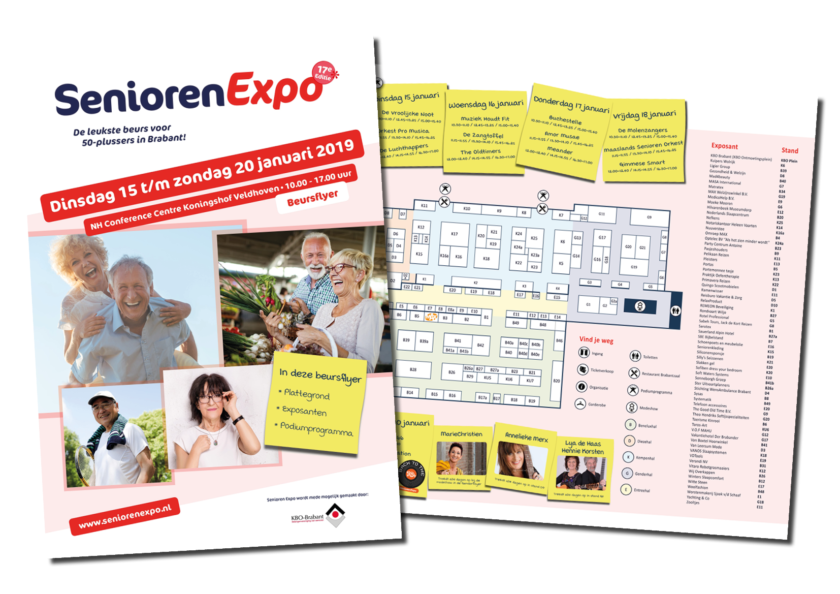 Beursflyer lay out – Senioren Expo 2019-2